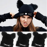 Hat / Beanie with cat ears