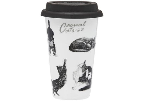 Ashdene Casual Cats or Feline Friends Travel Mug