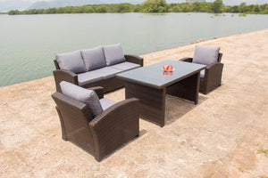 Aloha 4pc outdoor wicker lounge