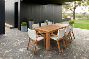 Bario 240 dining table +Corfu chair (9PC SET)