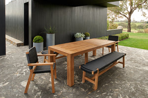 Corfu chair + Corfu bench + Bario dining table (5PC KIT)