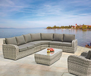 Brandon 5pc outdoor wicker modular