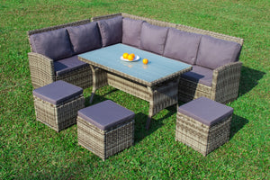 Jasmin outdoor wicker modular set