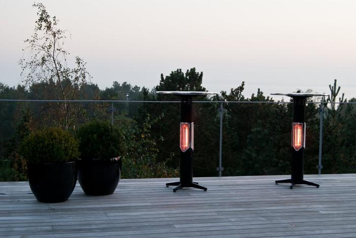 SWEETHEART Outdoor/Indoor Heater - Bar table height with ISO table top