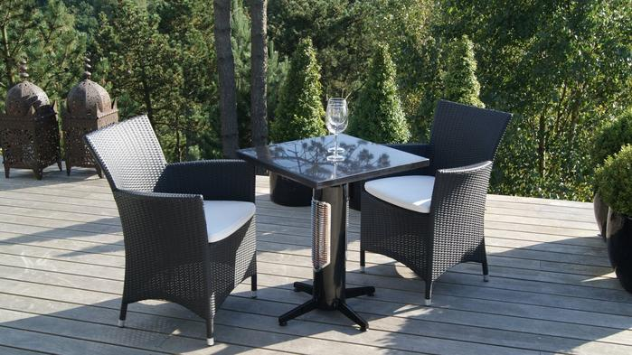 SWEETHEART Outdoor/Indoor Heater - Balcony table height with stone table top