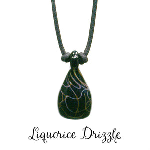 Aromatherapy Jewelry, Abstract - Liquorice Drizzle
