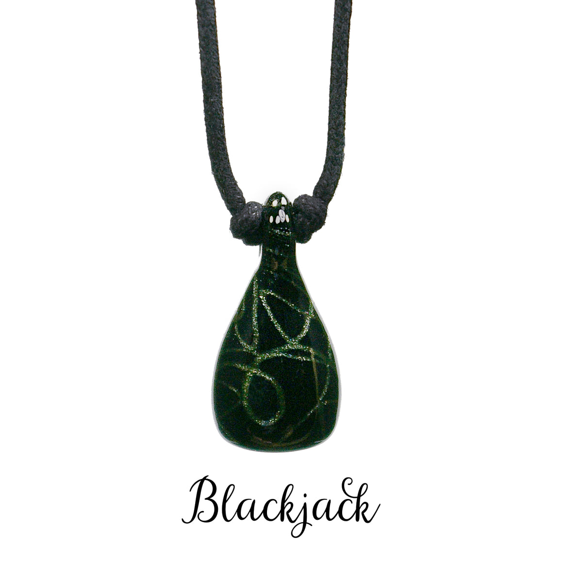 aromatherapy pendant abstract black green blackjack