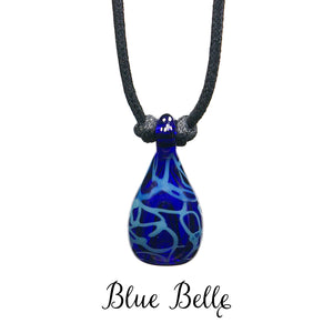aromatherapy pendant abstract blue bluebelle cobalt