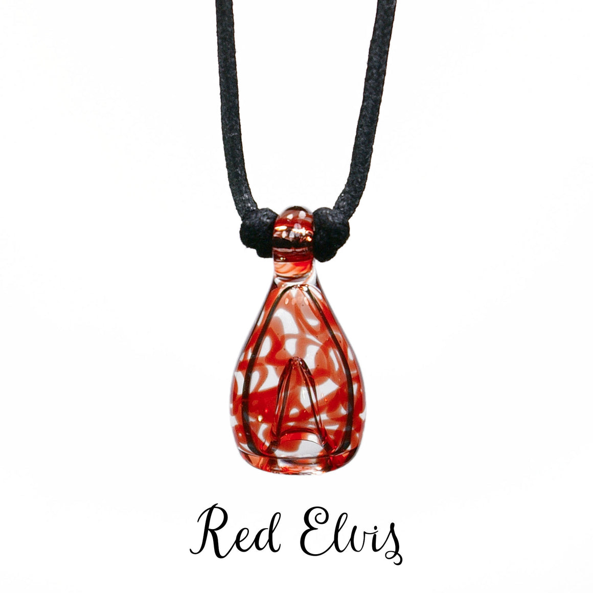 aromatherapy pendant abstract red elvis clear