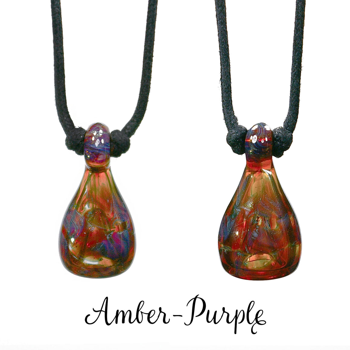 Aromatherapy Jewelry, Rake - Amber-Purple