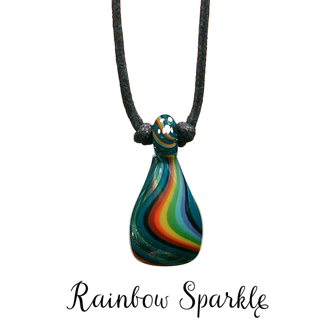 Aromatherapy Jewelry, Stripe - Rainbow Sparkle
