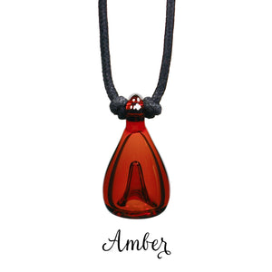 Aromatherapy pendant translucent amber brown