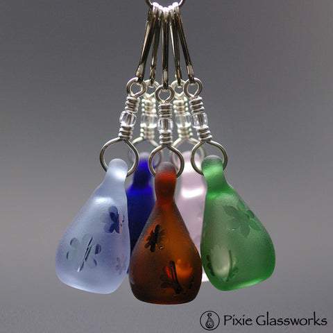 Aromatherapy Zipper Pulls, Colored Sandblast - Bouquet