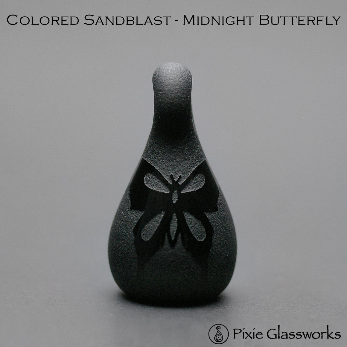 Aromatherapy Pendants, Colored Sandblast - Butterfly
