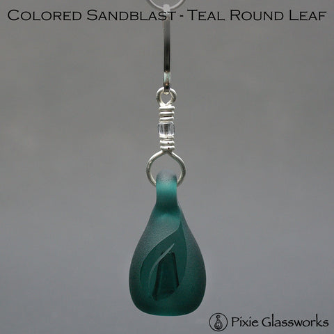 Aromatherapy Zipper Pulls, Colored Sandblast - Round Leaf