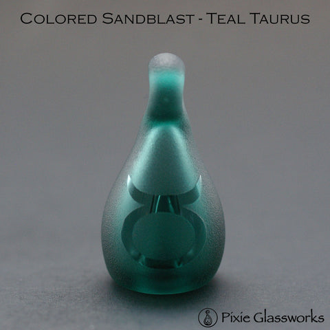 Aromatherapy Pendants, Colored Sandblast - Taurus
