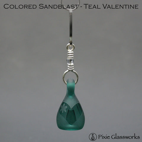 Aromatherapy Zipper Pulls, Colored Sandblast - Valentine