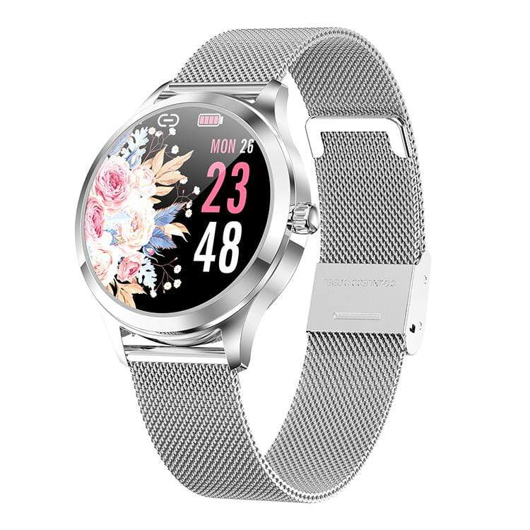 BOZLUN Silver LW07 Health Monitor Fashion SmartWatch Message Whatsapp Reminder Smartwatch Lady Gift