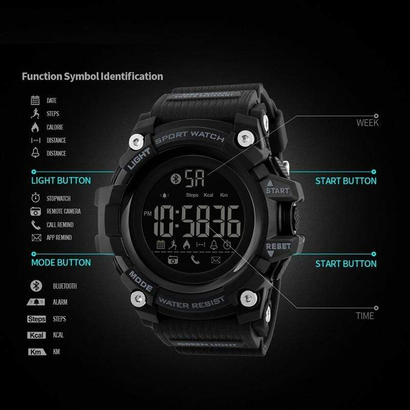 Bozlunofficial BOZLUN 1385 Pedometer Waterproof  Digital  SmartWatch