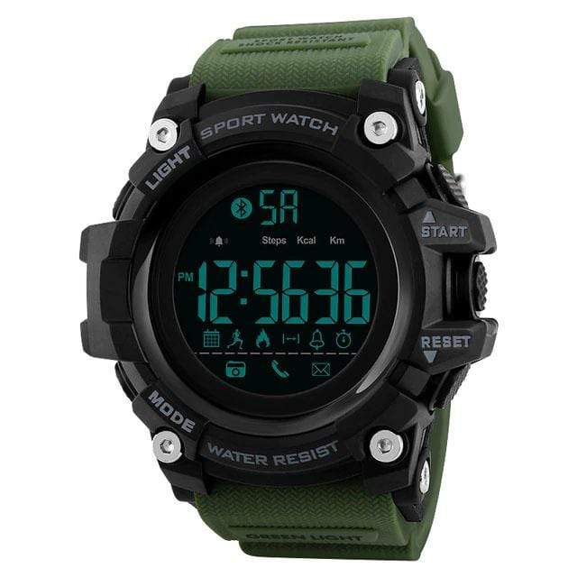 Bozlunofficial Green BOZLUN 1385 Pedometer Waterproof  Digital  SmartWatch