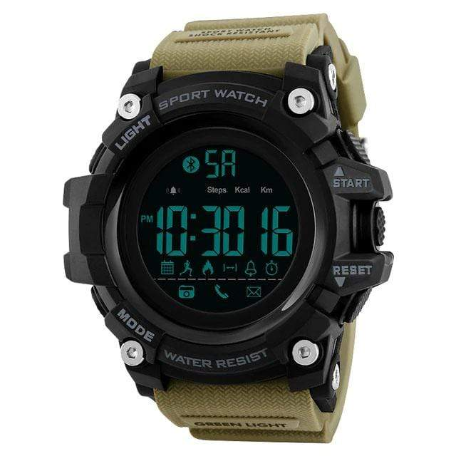 Bozlunofficial Khaki BOZLUN 1385 Pedometer Waterproof  Digital  SmartWatch
