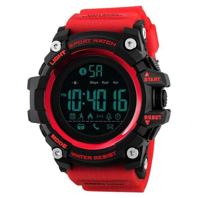 Bozlunofficial Red BOZLUN 1385 Pedometer Waterproof  Digital  SmartWatch