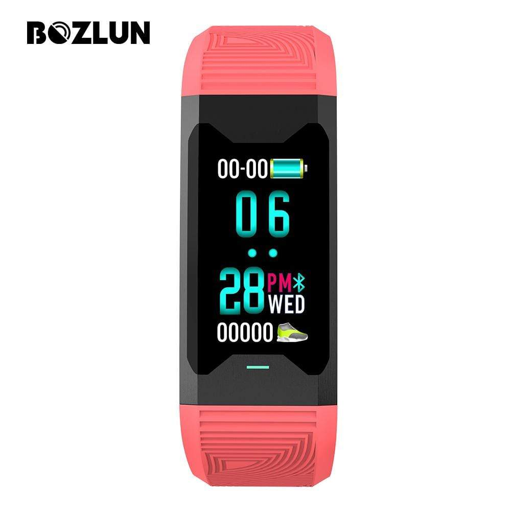 Bozlunofficial Red BOZLUN B31 Blood Oxygen Monitor Smartwatch
