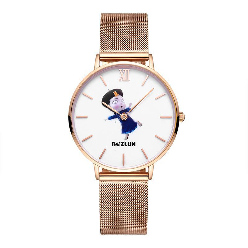 Bozlunofficial Blue Bozlun Chinese Traditional Cartoon Character Watches