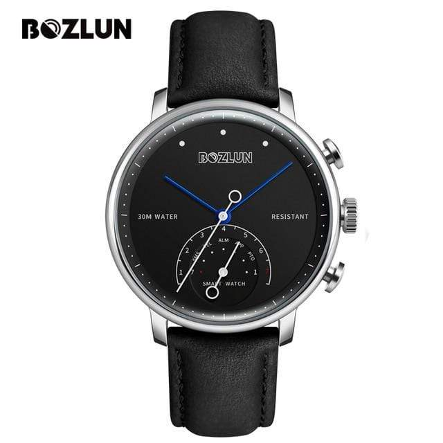 Bozlunofficial Silver Black BOZLUN H8 Bluetooth Business SmartWatch