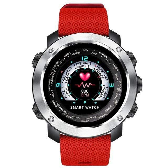Bozlunofficial Red Silver Bozlun W30 3D UI Bluetooth SmartWatch