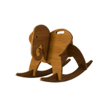 amber bamboo rocking elephant - wee rock toy co