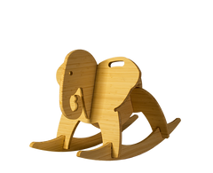 natural bamboo rocking elephant - wee rock toy co