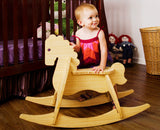 natural bamboo rocking horse - wee rock toy co