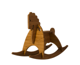 amber bamboo rocking horse - wee rock toy co