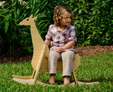 natural bamboo rocking giraffe - wee rock toy co