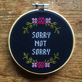 SORRY NOT SORRY/ RIOTS NOT DIETS Stitchin' Kit