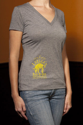 Women's Grey V-Neck