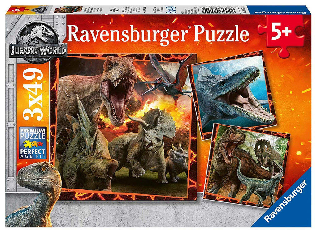 Puzzle Ravensburger - Jurassic World 3x49