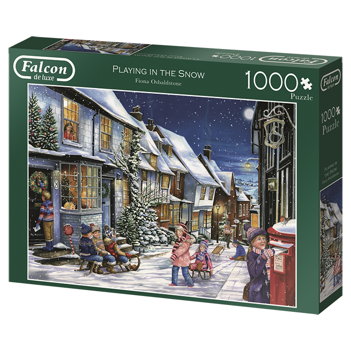 Puzzle Falcon - Playing In The Snow. 1000 piezas-Puzzle-Falcon-Doctor Panush