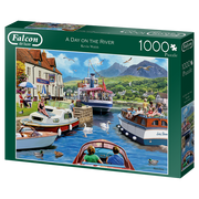 Puzzle Falcon - A Day on the River. 1000 piezas-Puzzle-Falcon-Doctor Panush