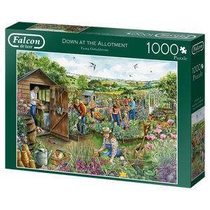 Puzzle Falcon - Down at the Allotment. 1000 piezas-Puzzle-Falcon-Doctor Panush