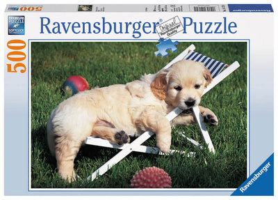 Puzzle Ravensburger - Golden Retriever 500 piezas-Ravensburger-Doctor Panush