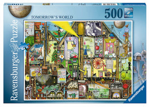 Puzzle Ravensburger - Tomorrow´s world. Colin Thompson 500 piezas-Doctor Panush
