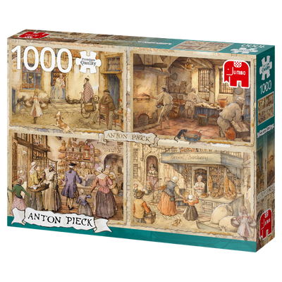 Puzzle Jumbo - Bakers from the 19th Century. 1000 piezas-Puzzle-Jumbo-Doctor Panush
