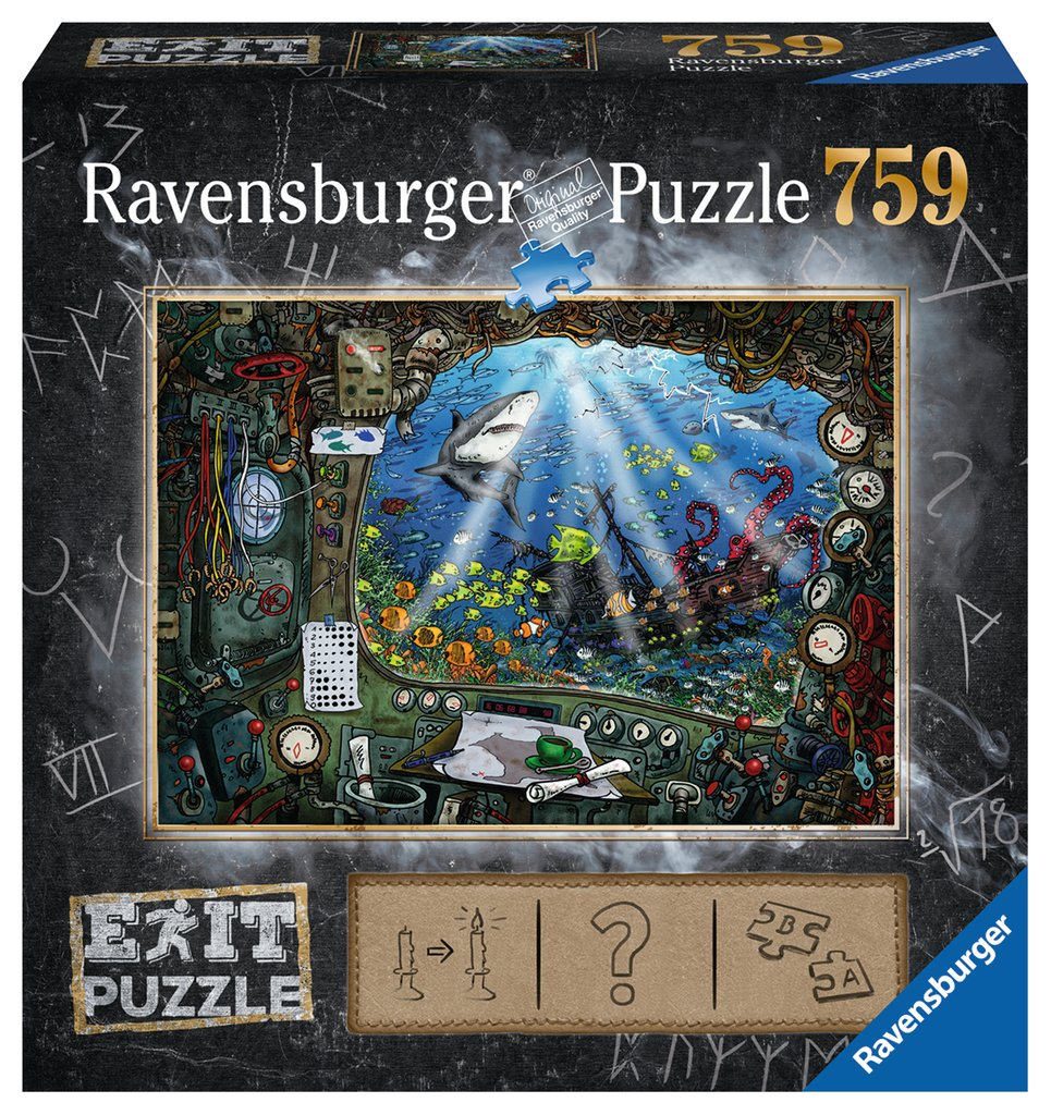 Escape Puzzle Ravensburger - Submarino. 759 Piezas