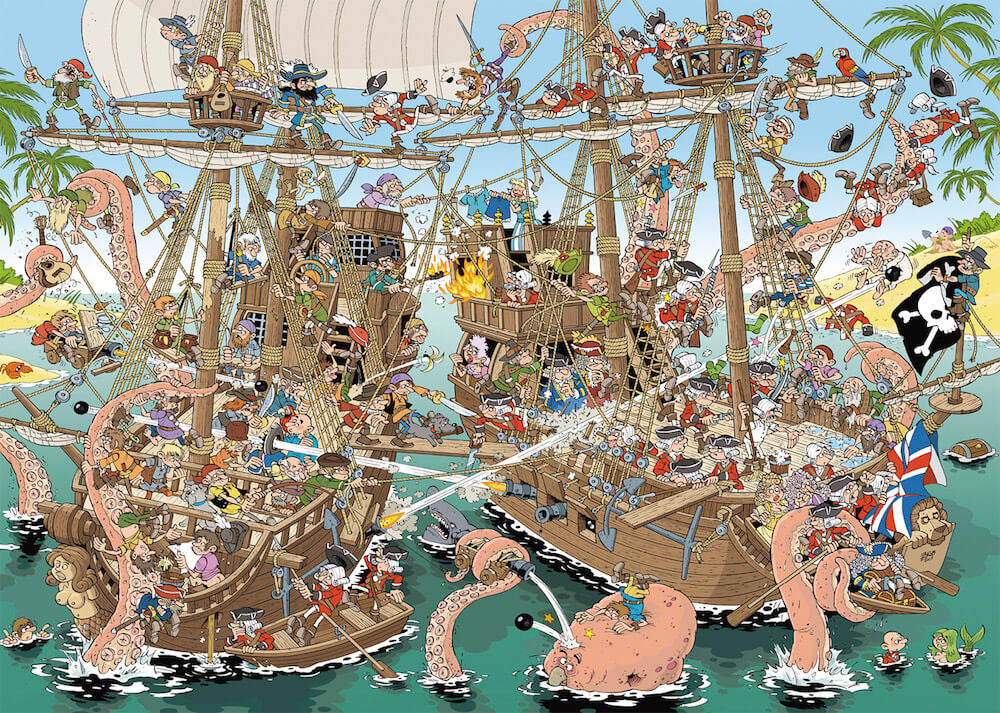 Puzzle Jumbo - Pieces of History, Los Piratas. 1000 piezas