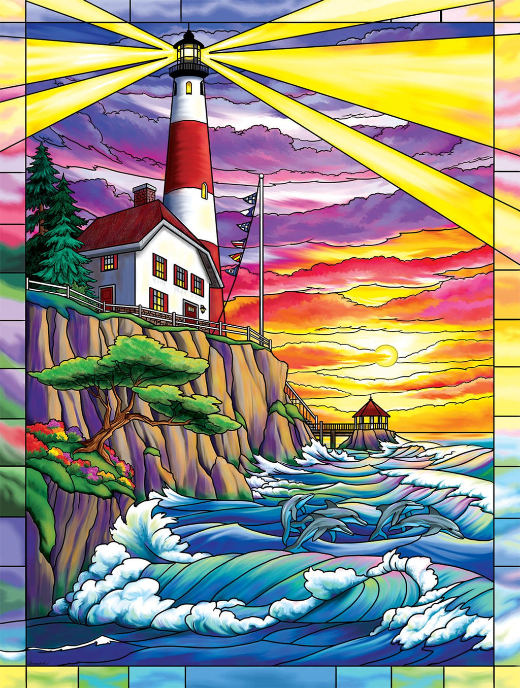 Dolphin Bay Lighthouse-Puzzle-SunsOut-Doctor Panush