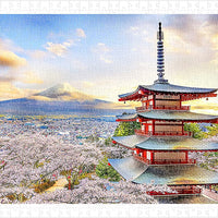 Puzzle Pintoo - Fuji Sengen Shrine, Japan. 800 piezas-Doctor Panush