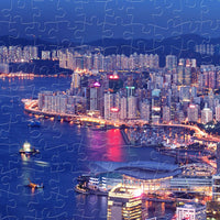 Puzzle Pintoo - Aerial view of Hong Kong Victoria Harbor at night. 1000 piezas-Puzzle-Pintoo-Doctor Panush