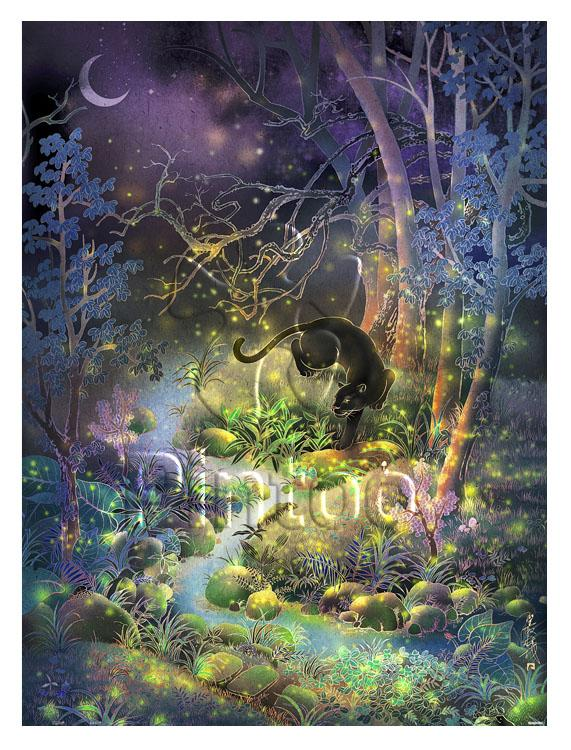 Puzzle Pintoo - Jungle Find - Dongshin Forest Garden - Fireflies. 1200 piezas-Doctor Panush